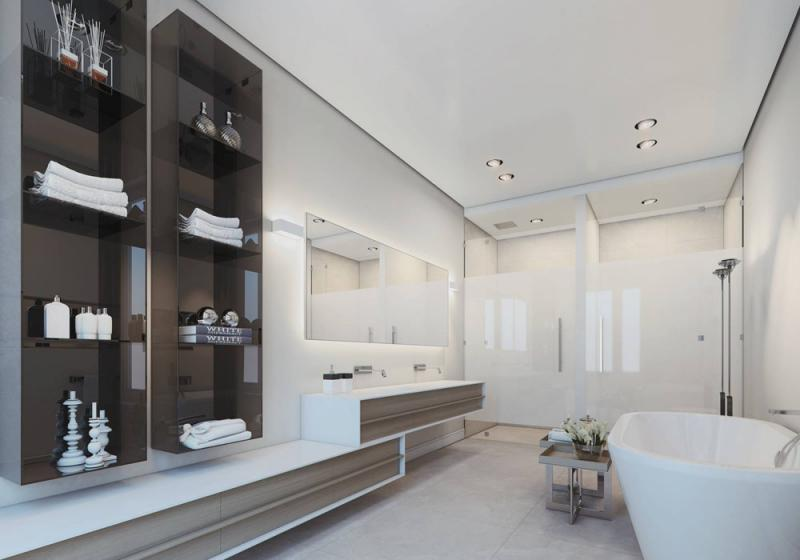 บ้านกับการออกแบบที่สวยงามในการแสดงผล 3d