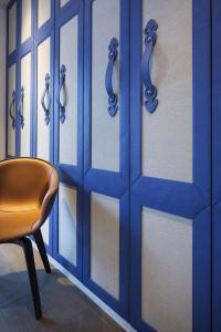 อพาร์ทเม้นแบบ  สีฟ้าสดใส penthouse ในเซี่ยงไฮ้