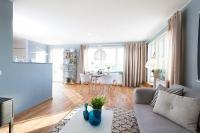 อพาร์ทเม้นท์สีฟ้าพาสเทล สแกนดิเนเวียนสไตล์